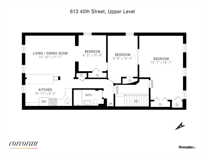 New York City Real Estate | View 613 40th Street, #2 | Floorplan