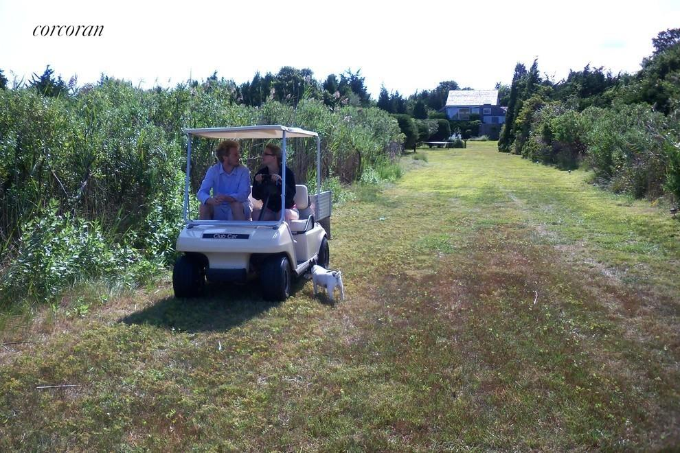 golf cart along private path