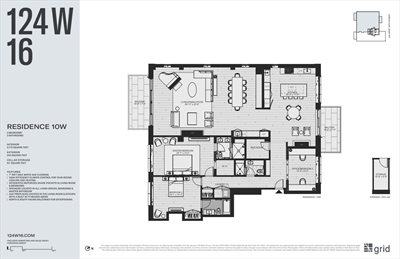 New York City Real Estate | View 124 West 16th Street, #10W | Floorplan 1