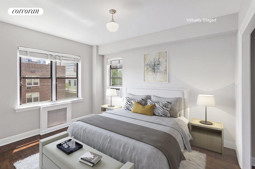 Corner Bedroom - virtually staged