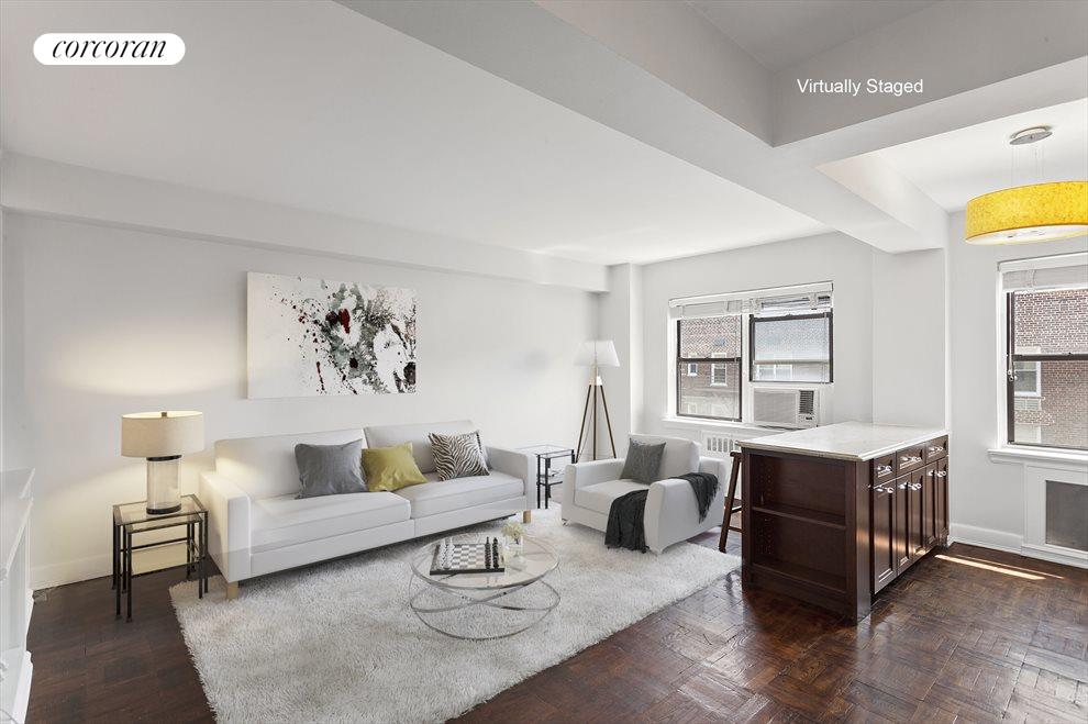 Living room and Open Kitchen - virtually staged
