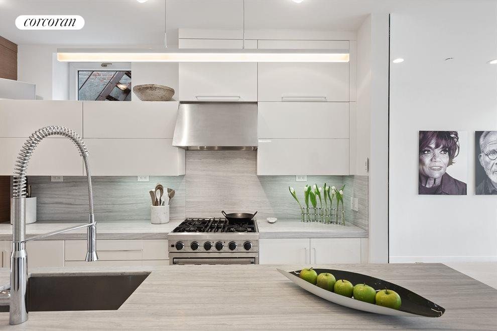 Stunning open chef's kitchen with island