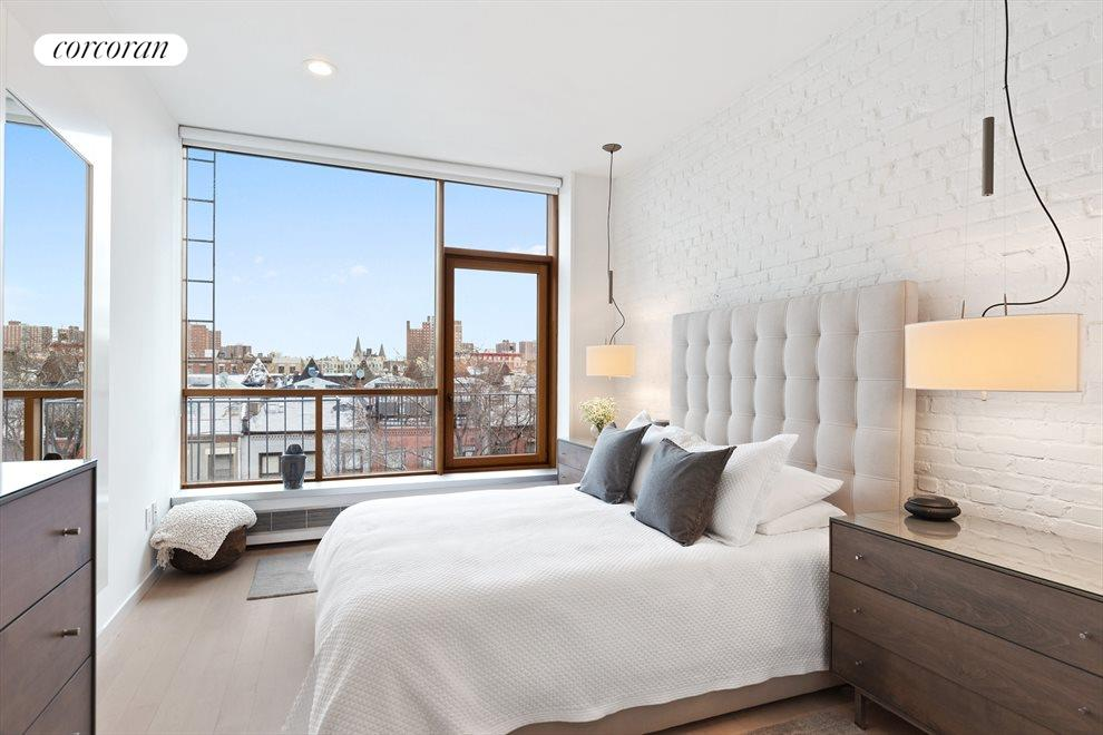 Soothing master bedroom with northern views.