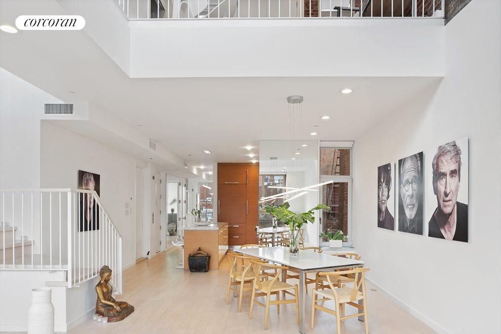 Airy loft space perfect for entertaining.