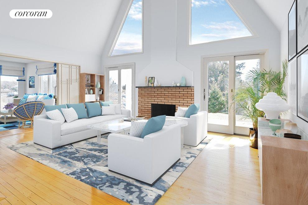 BRIGHT & SUNNY LIVING ROOM - VIRTUALLY STAGED
