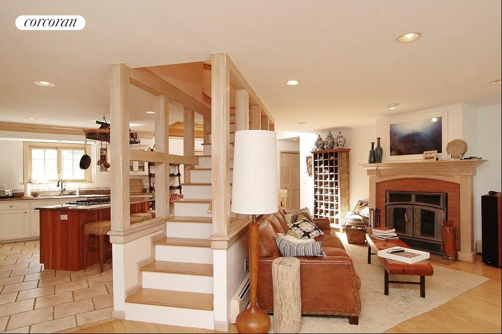 Open Living Areas Leading to Loft Area