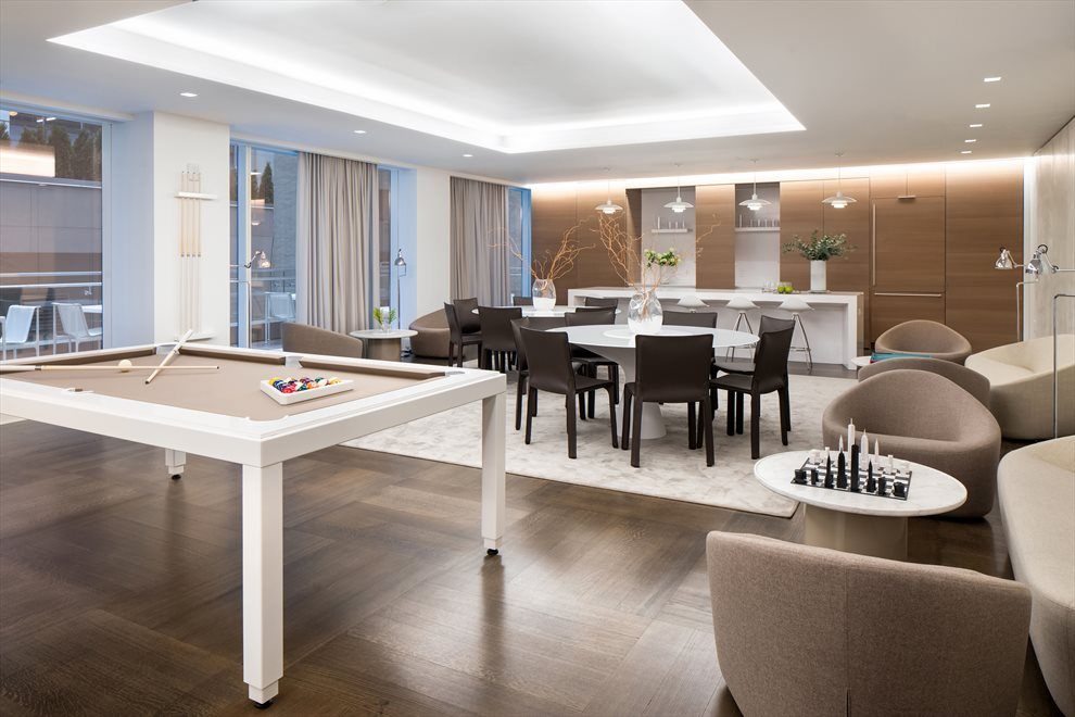 Residents Lounge with Billiards Table