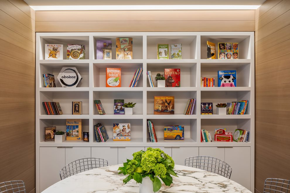 New York City Real Estate | View 1289 Lexington Avenue, #11D | Library curated by The Corner Bookstore