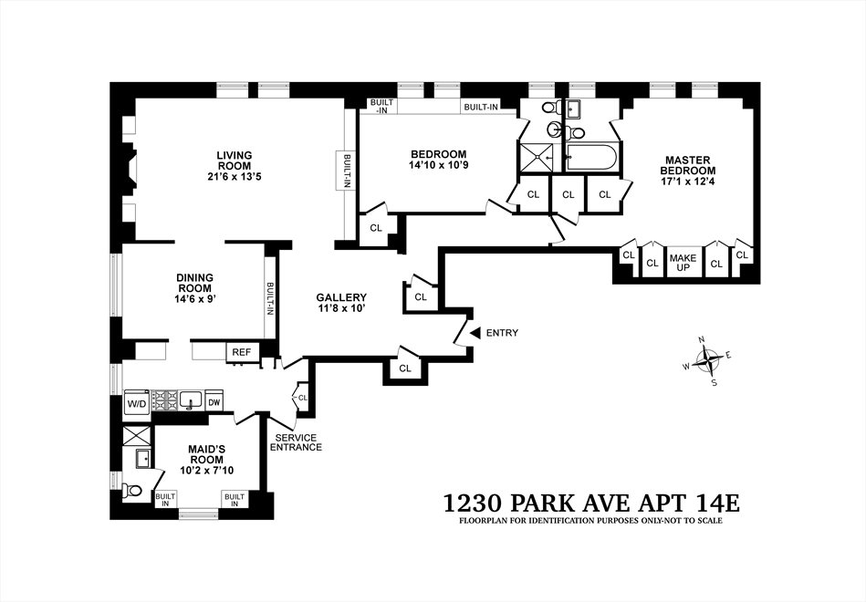 New York City Real Estate | View 1230 Park Avenue, #14E | Floorplan