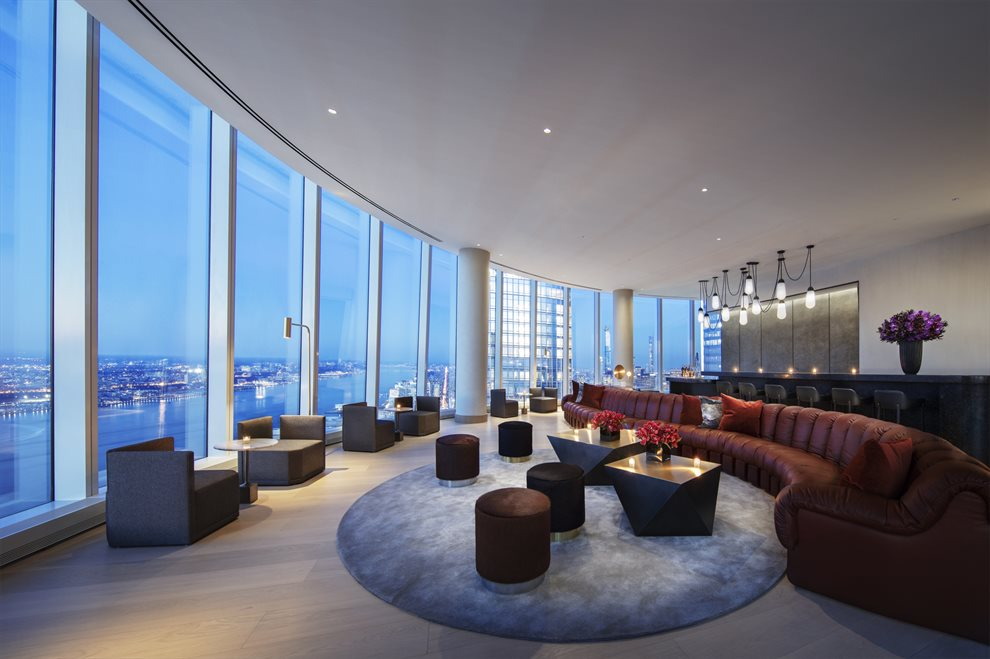 New York City Real Estate | View 15 Hudson Yards, #71E | Skytop Lounge