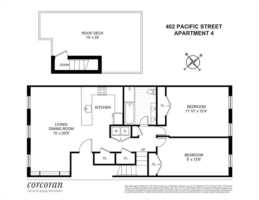 New York City Real Estate | View 402 Pacific Street, #4 | Floorplan
