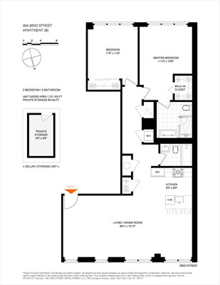 New York City Real Estate | View 334 22nd Street, #2B | Floorplan