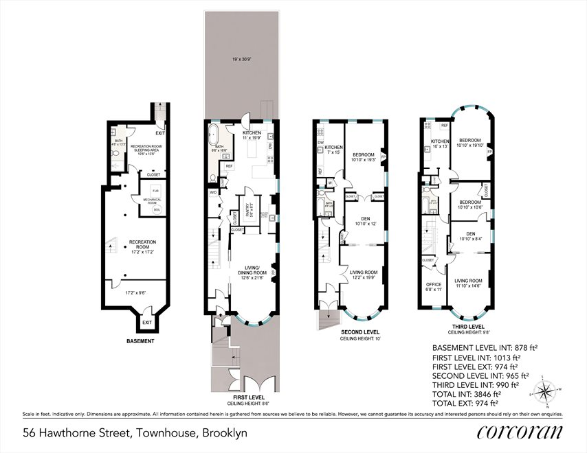 New York City Real Estate | View 56 Hawthorne Street | Floorplan