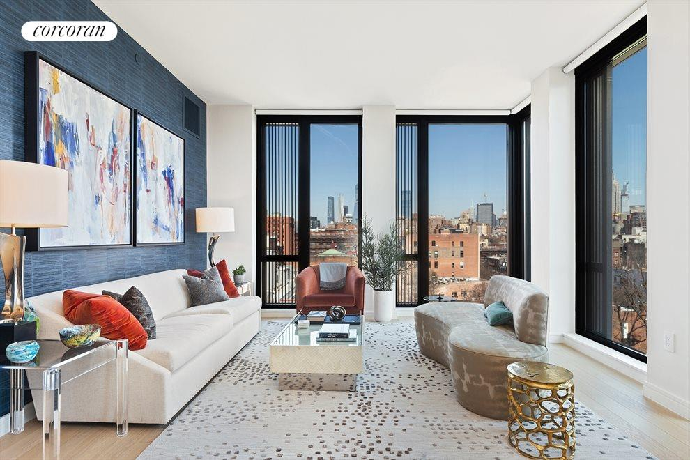 New York City Real Estate | View 100 Barrow Street, #9B | Spectacular Open City Views | North and East
