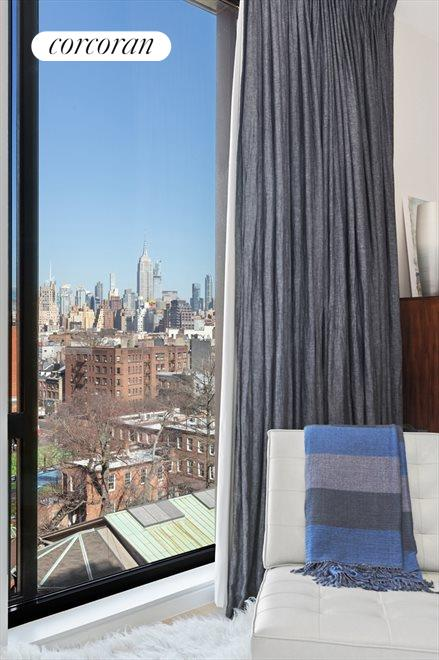 New York City Real Estate | View 100 Barrow Street, #9B | Master Bedroom | City Views