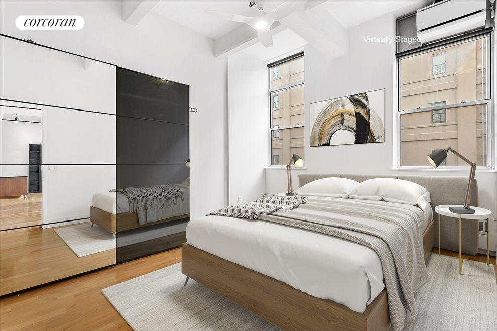 New York City Real Estate | View 970 Kent Avenue, #308 | Bedroom - Virtual Staging