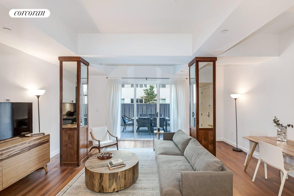 New York City Real Estate | View 125 North 10th Street, #NGD | High Ceilings with Garden Views