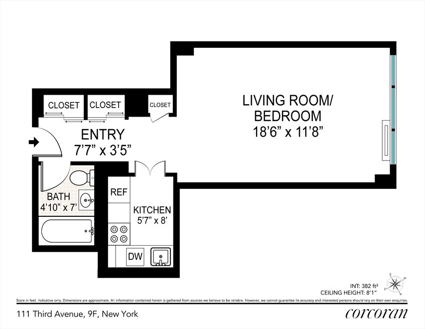 New York City Real Estate | View 111 Third Avenue, #9F | Floorplan