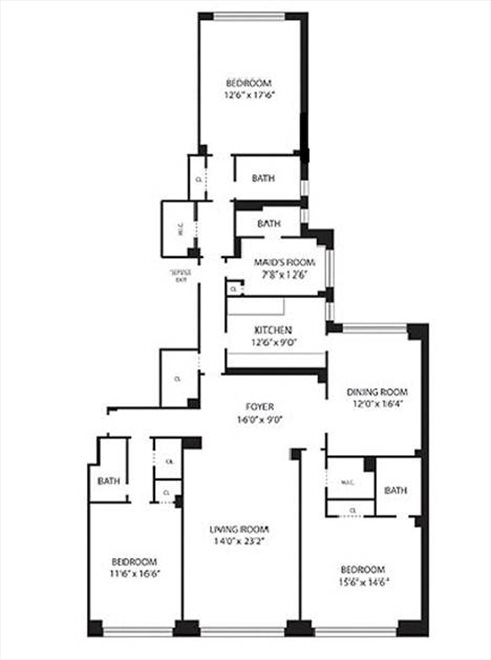 New York City Real Estate | View 45 East 72nd Street, #10 | Floorplan 2