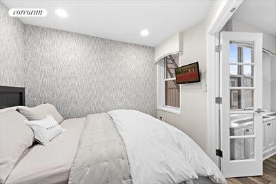 New York City Real Estate | View 350 Bleecker Street, #4U | Bedroom w Queen Bed and storage