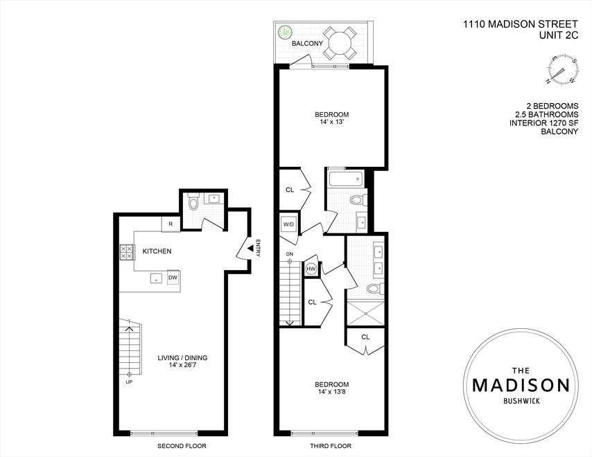 New York City Real Estate | View 1110 Madison Street, #2C | Floorplan