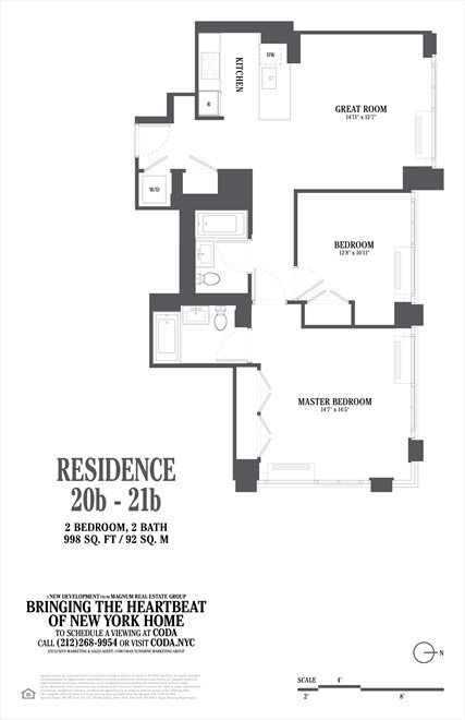 New York City Real Estate | View 385 First Avenue, #20B | Floorplan