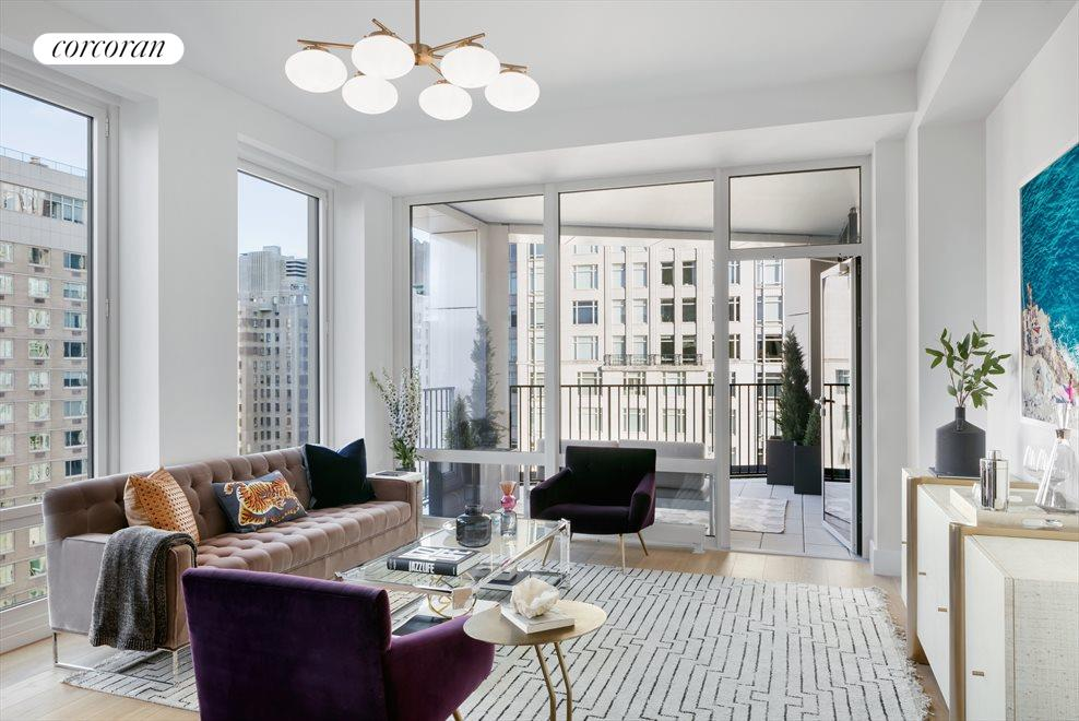 New York City Real Estate | View 15 West 61st Street, #27B | 2 Beds, 2 Baths