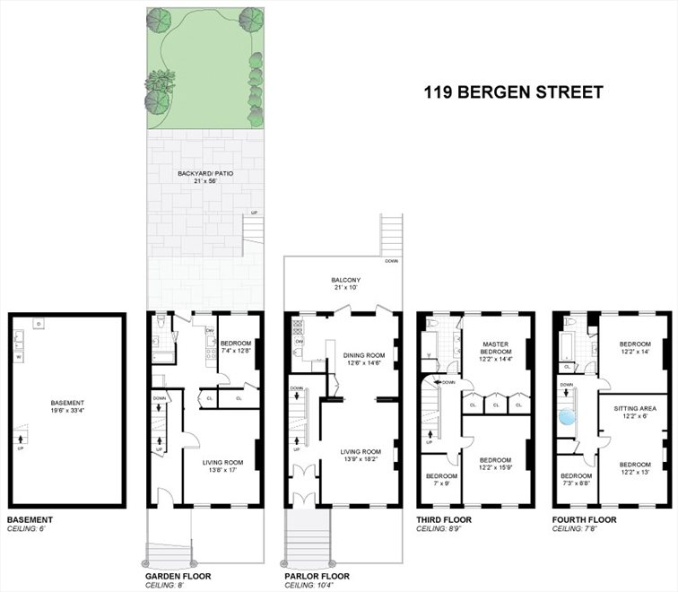 New York City Real Estate | View 119 Bergen Street | Floorplan