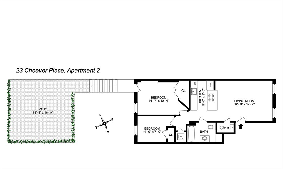 New York City Real Estate | View 23 Cheever Place, #2 | Floorplan