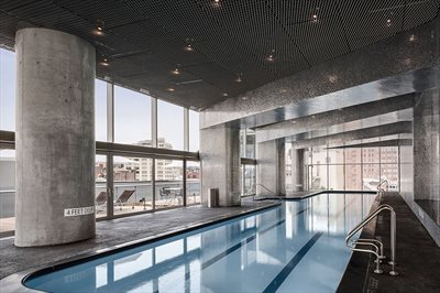 New York City Real Estate | View 56 LEONARD ST, #29B EAST | Shimmering 75-foot lap pool and hot tub
