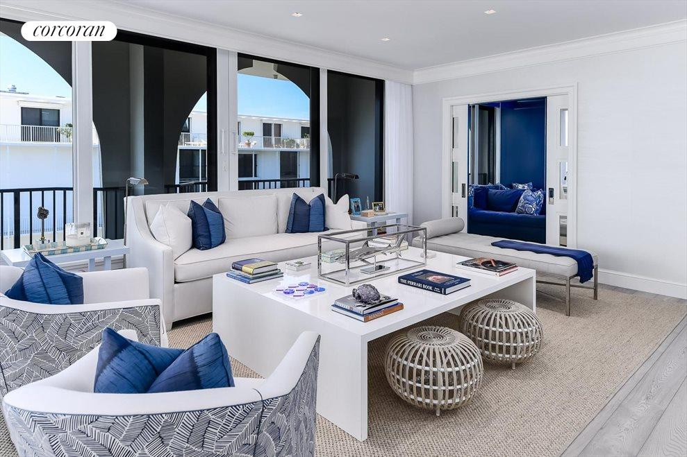 South Florida Real Estate | View 360 South Ocean Blvd 5A | Living Room
