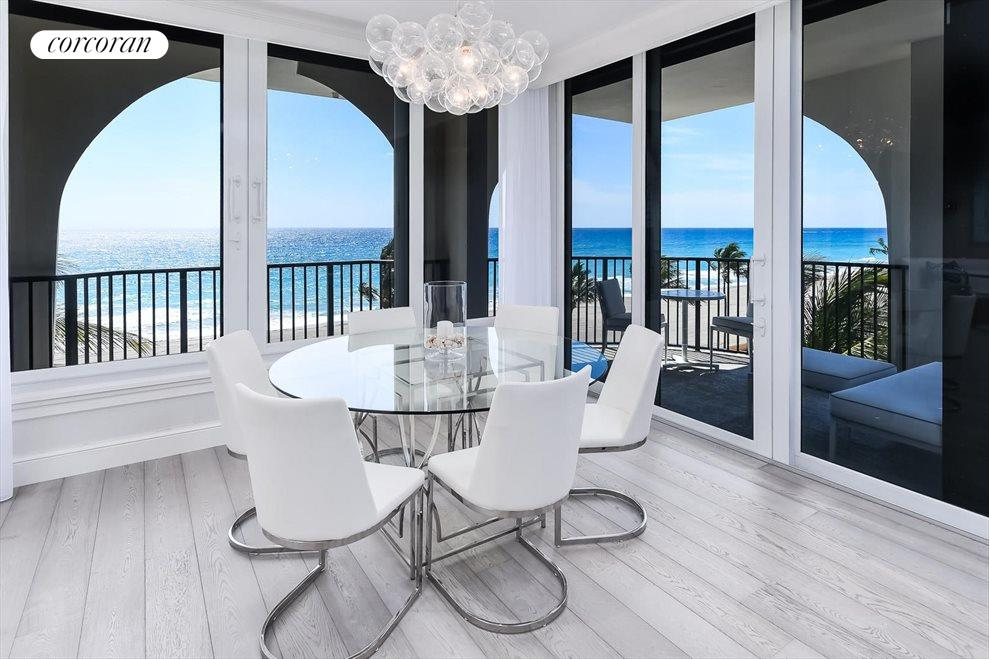 South Florida Real Estate | View 360 South Ocean Blvd 5A | Dining Area