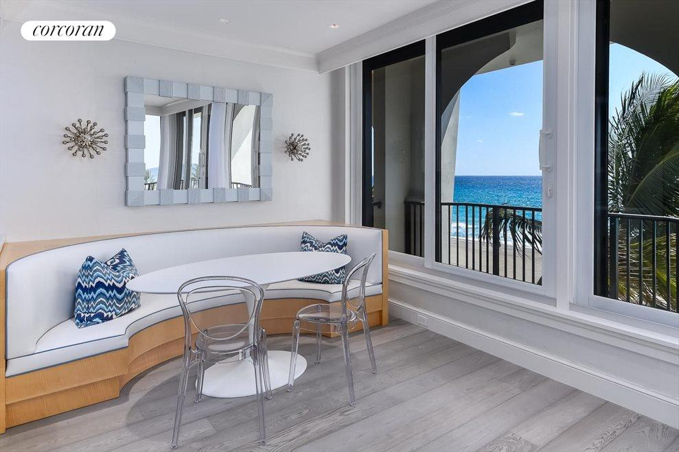 South Florida Real Estate | View 360 South Ocean Blvd 5A | Breakfast Area