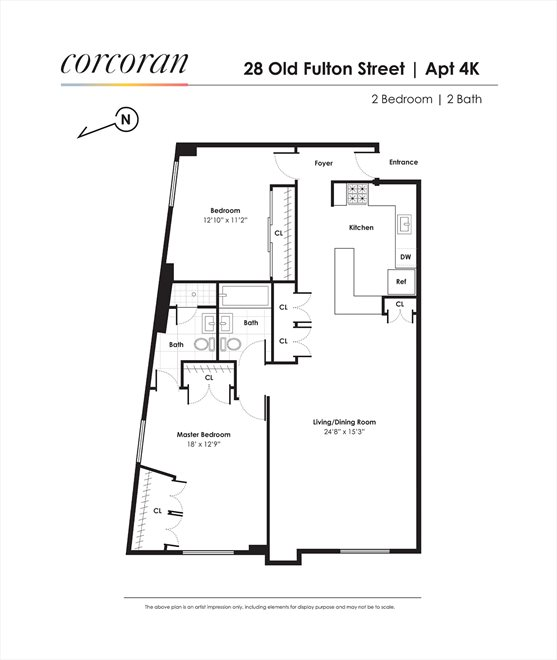 New York City Real Estate | View 28 Old Fulton Street, #4K | Floorplan