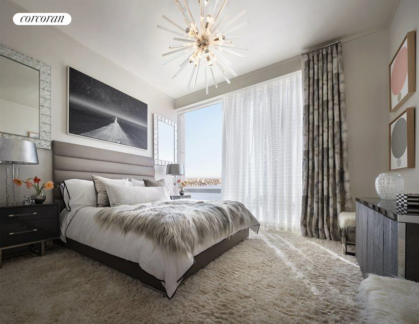 New York City Real Estate | View 35 HUDSON YARDS, #8603 | Master suite with en-suite bathroom