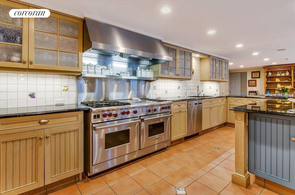 Gourmet kitchen will all stainless appliances