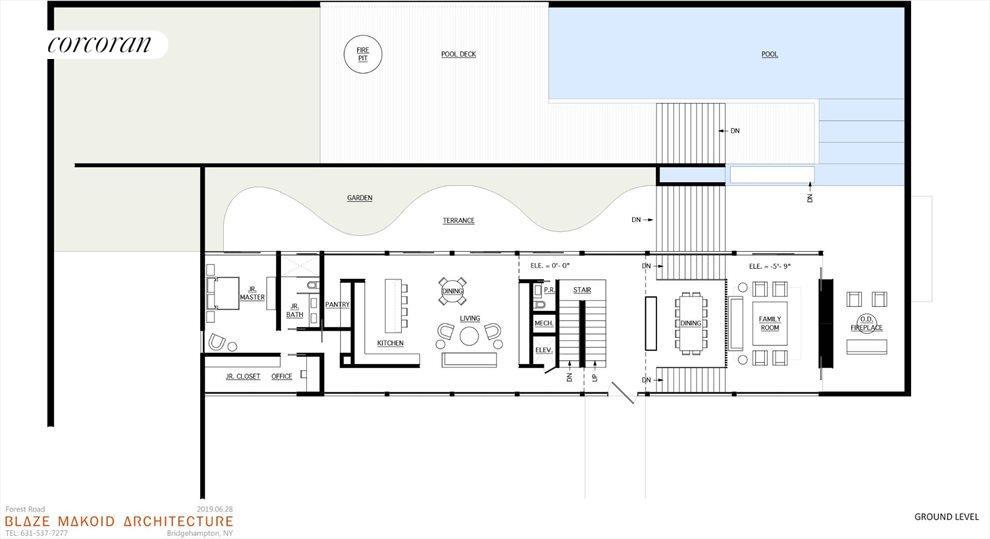 potential modern home floor plan