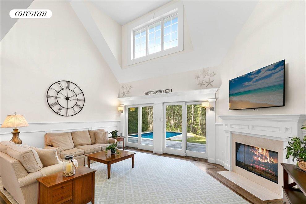 Living Room Overlooking Backyard & Pool