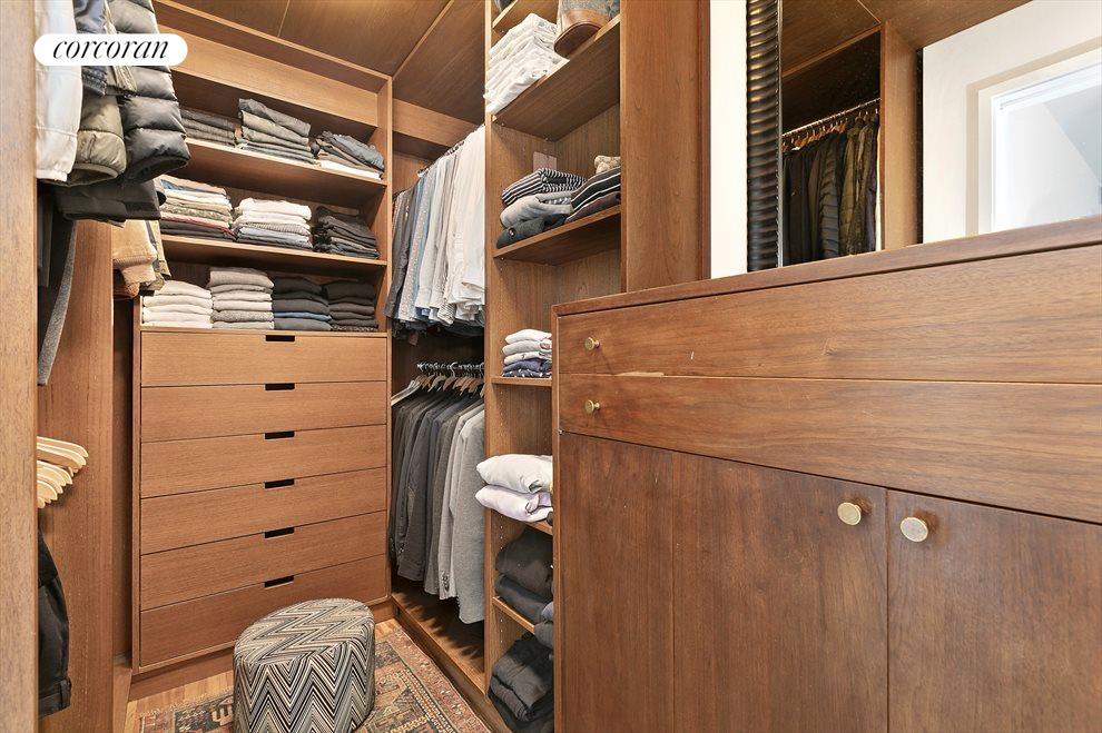 New York City Real Estate | View 201 West 21st Street, #PH14/15 | Upstairs Master Bedroom Walk-In Closet