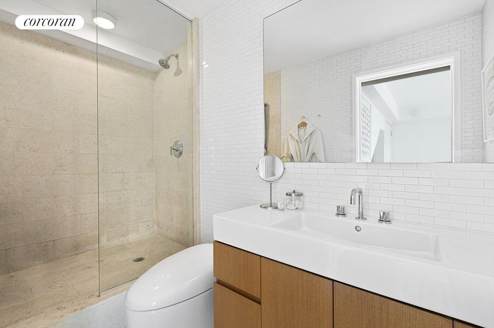 New York City Real Estate | View 201 West 21st Street, #PH14/15 | Downstairs En Suite Bath