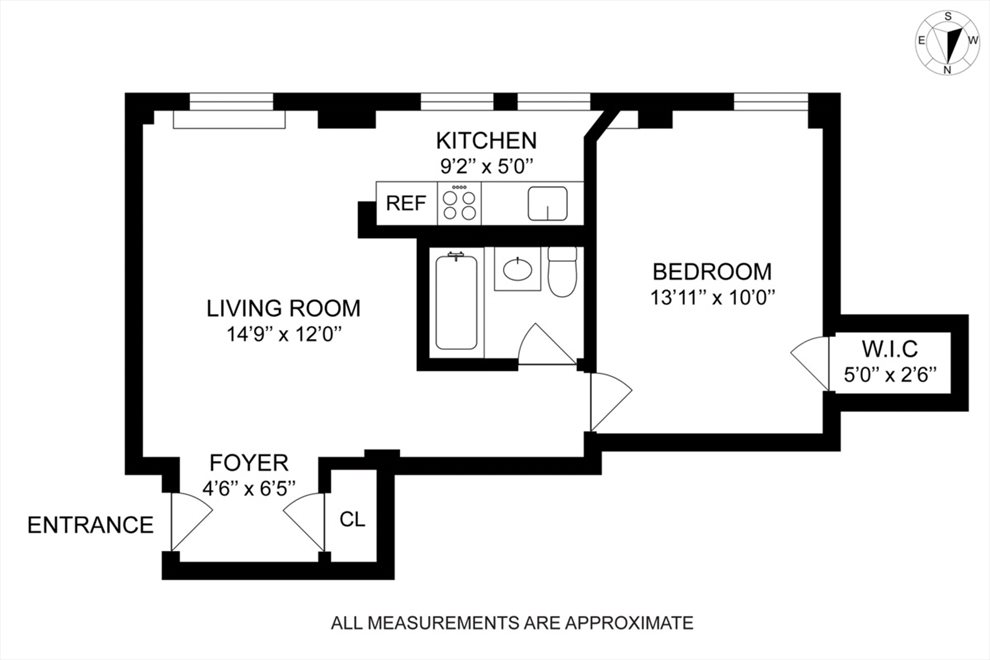 New York City Real Estate | View 123 West 74th Street, #1A | Floorplan