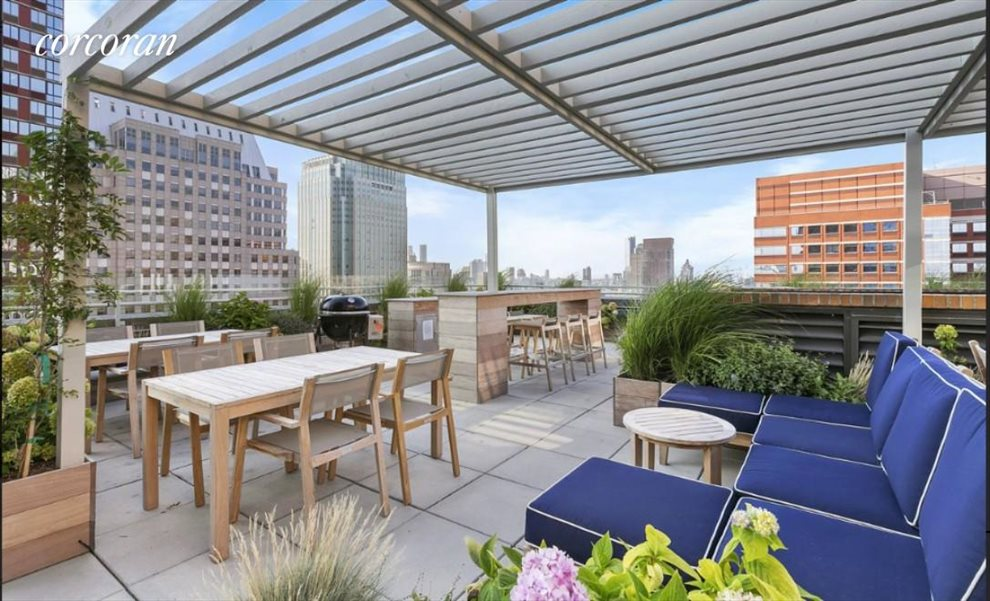 New York City Real Estate | View 365 Bridge Street, #10F | Common Roof Deck
