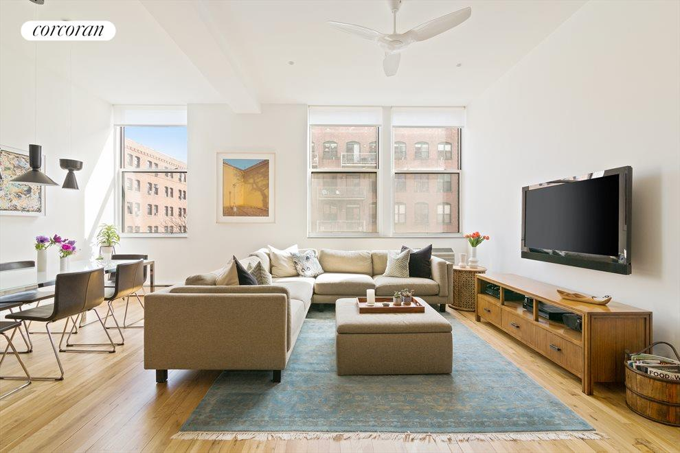 New York City Real Estate | View 438 12th Street, #3D | Open Loft like Living Room