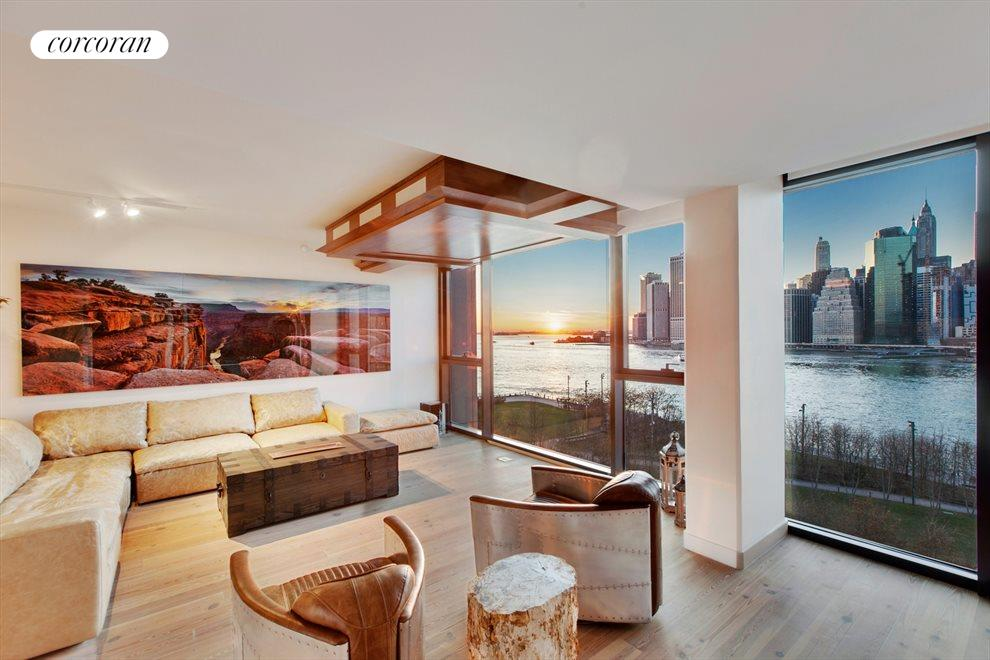 New York City Real Estate | View 90 Furman Street, #N1016 | Unobstructed & Unparalleled Views   g Room