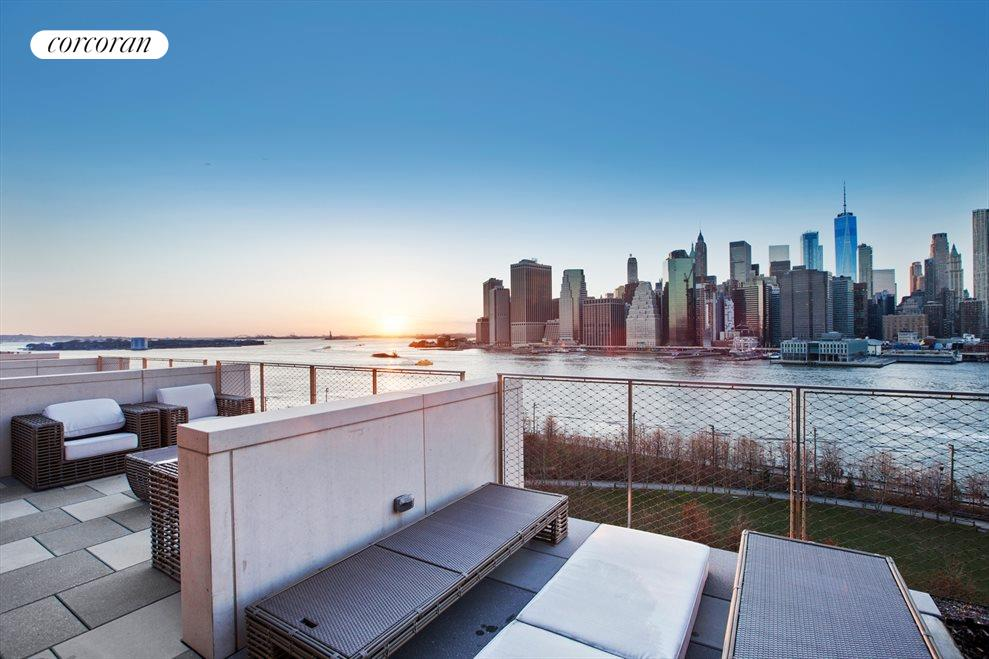 New York City Real Estate | View 90 Furman Street, #N1016 | Oversized Roof Terrace