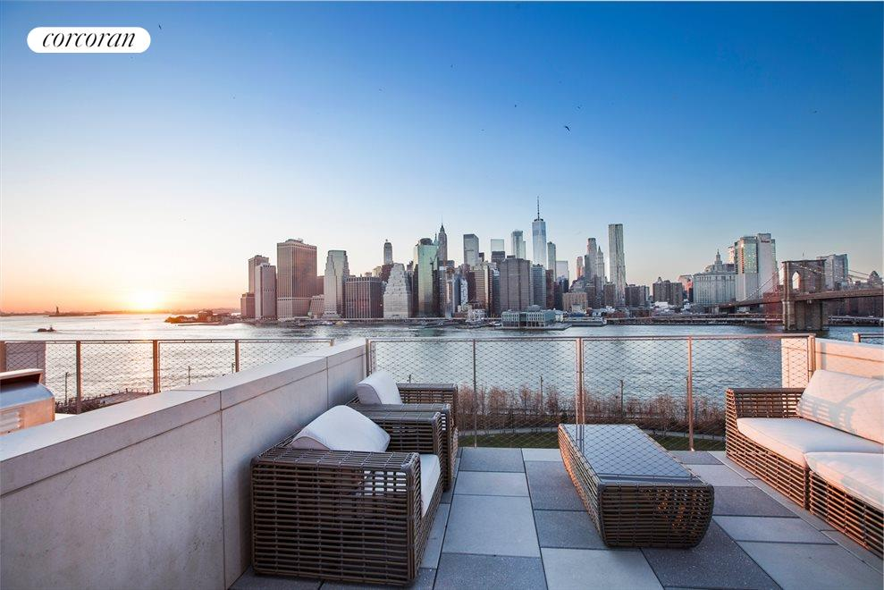 New York City Real Estate | View 90 Furman Street, #N1016 | View from Terrace