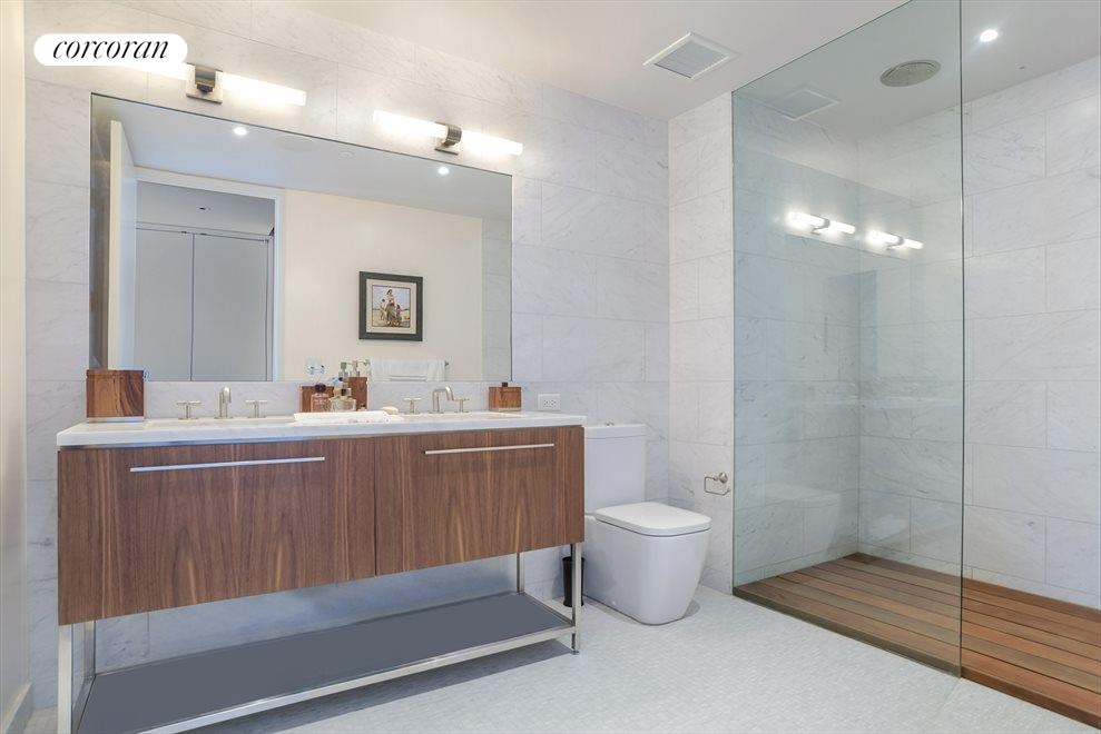 New York City Real Estate | View 90 Furman Street, #N1016 | Master Bathroom