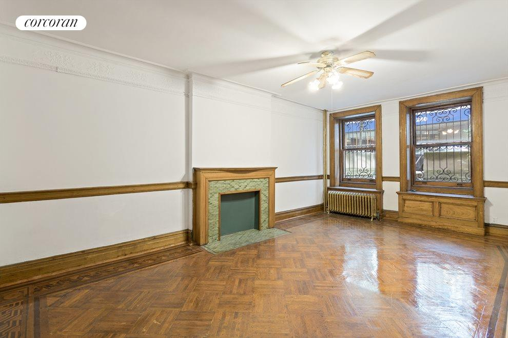 New York City Real Estate | View 263 West 90th Street | Garden level bedroom
