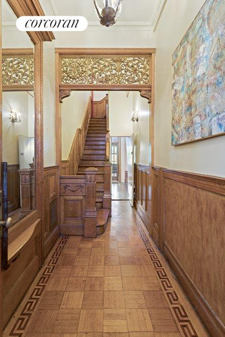 New York City Real Estate | View 263 West 90th Street | Parlor entry / original transom & staircase