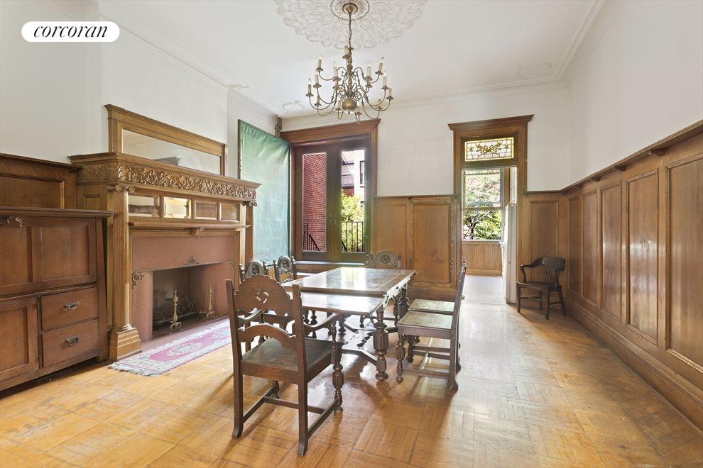 New York City Real Estate | View 263 West 90th Street | FDR with doorway to the garden